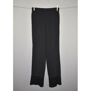 HELMUT LANG Black Straight Leg Woven Pull On Pant